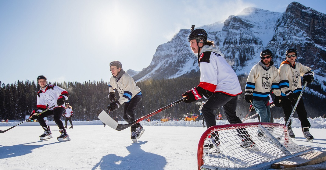 Here's what it's like to play a pond hockey tourney in the Rockies (PHOTOS)