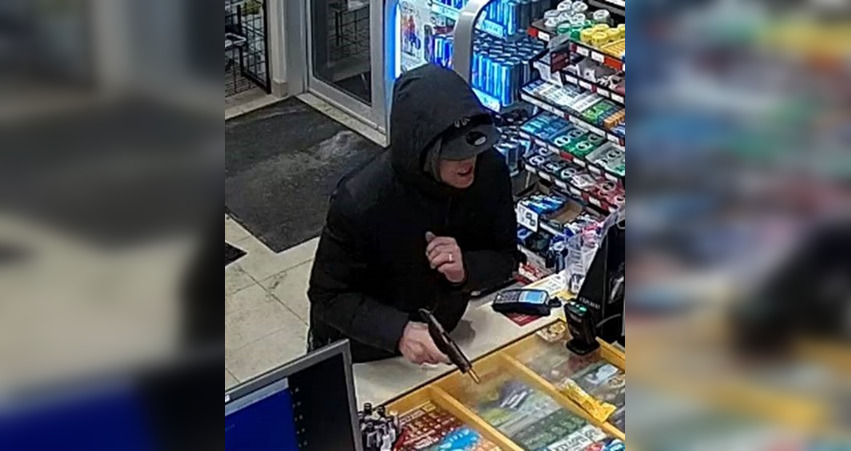 Police searching for suspect involved in alleged armed robbery at gas station