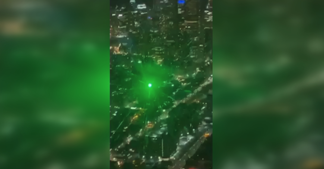 Paramedic and pilot injured after their helicopter was struck by green laser (VIDEO)