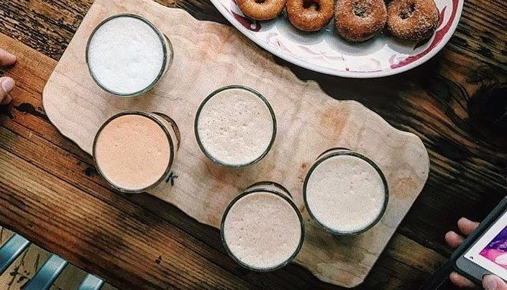 Enjoy an entire flight of Chai at Pip's Original Donuts in Portland