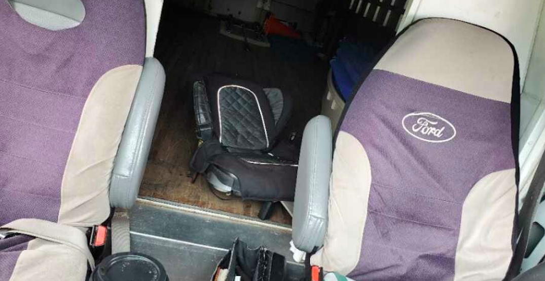 Truck driver in Burnaby fined for using child's car seat for adult passenger