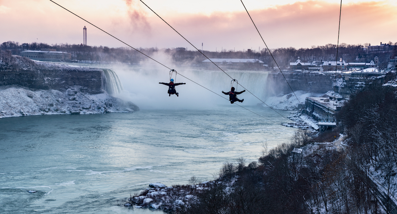 The Niagara Falls zipline set to open early for the season