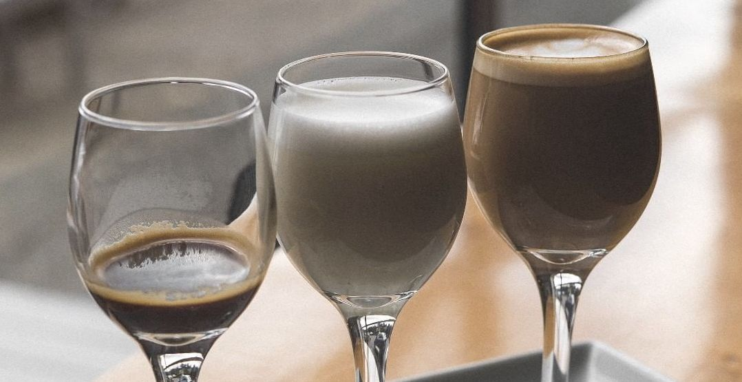You can get a deconstructed latte at Seattle's Slate Coffee Roasters