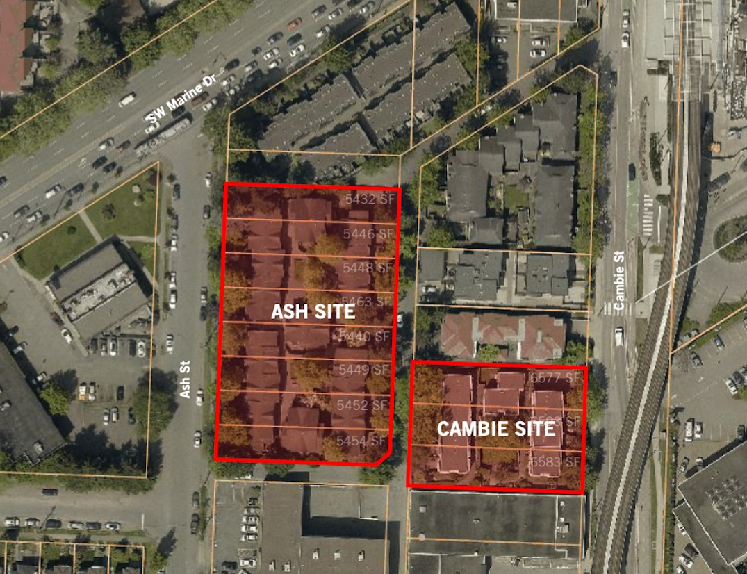 8460 Ash Street 8495 Cambie Street Vancouver Ashley Mar Housing Coop