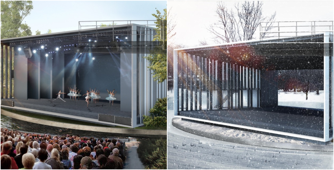 Montreal unveils new look for Park La Fontaine's year-round theatre (RENDERINGS)