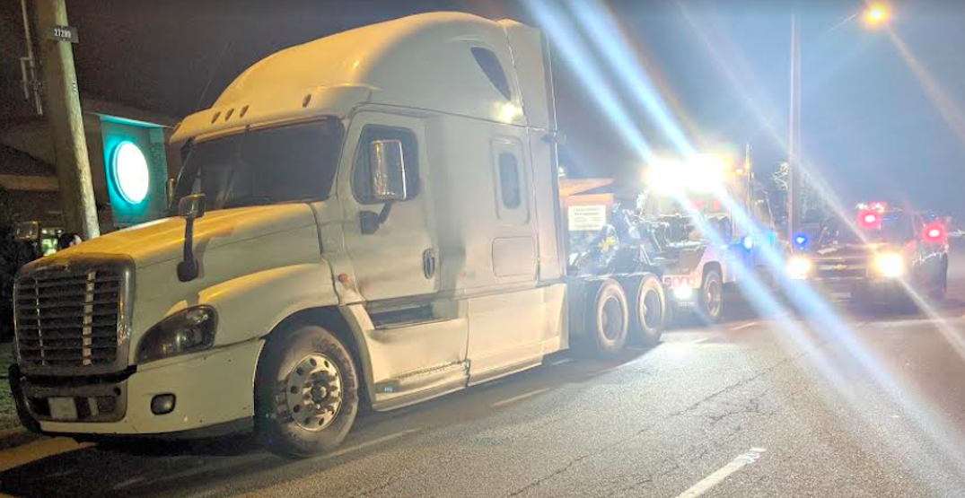 Semi-truck driver caught driving while impaired in Metro Vancouver