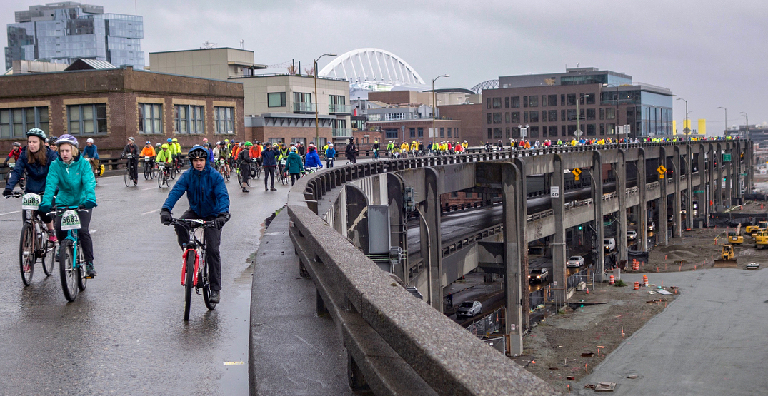 Ride your bike through the car-free streets of the Emerald City on April 19