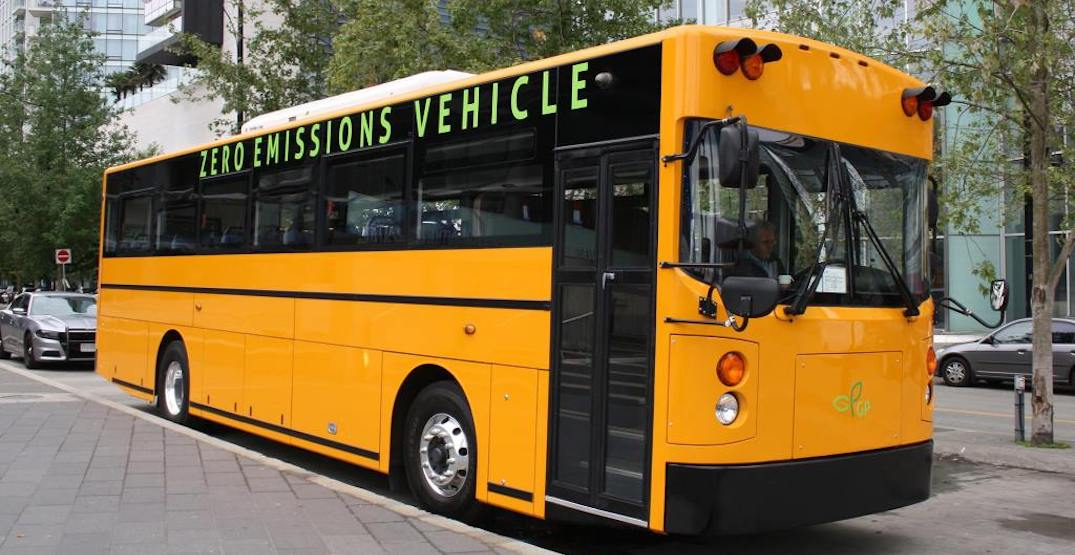 BC government providing funding for new electric-battery school buses