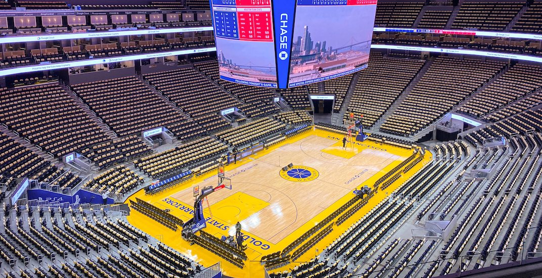 Golden State Warriors will play tomorrow's NBA game in an empty arena