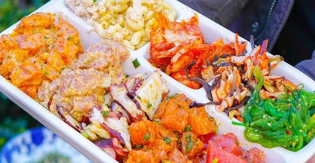 Seattle Fish Guys is serving up an insanely packed poke sampler