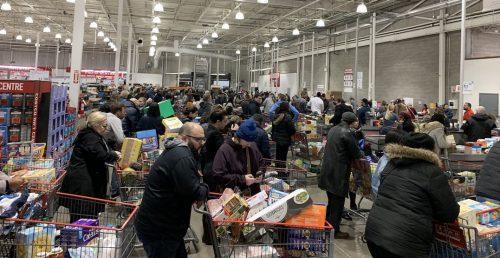 Crowds of coronavirus panic-buyers swarm GTA grocery stores (PHOTOS) | Dished
