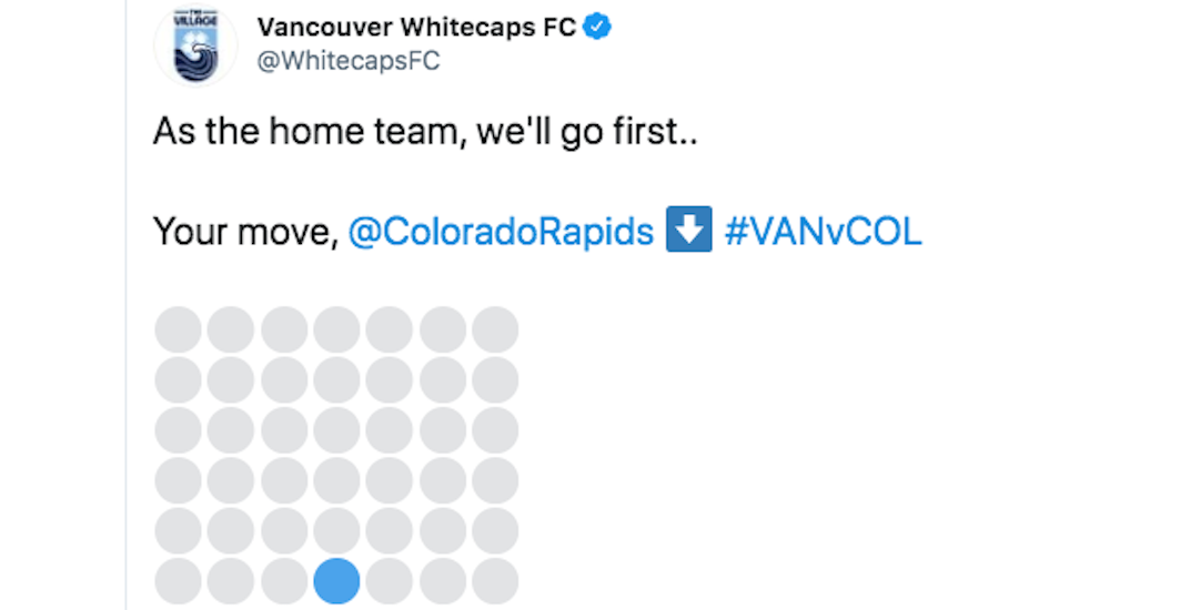 Instead of soccer, the Whitecaps played Connect 4 against their opponent this weekend