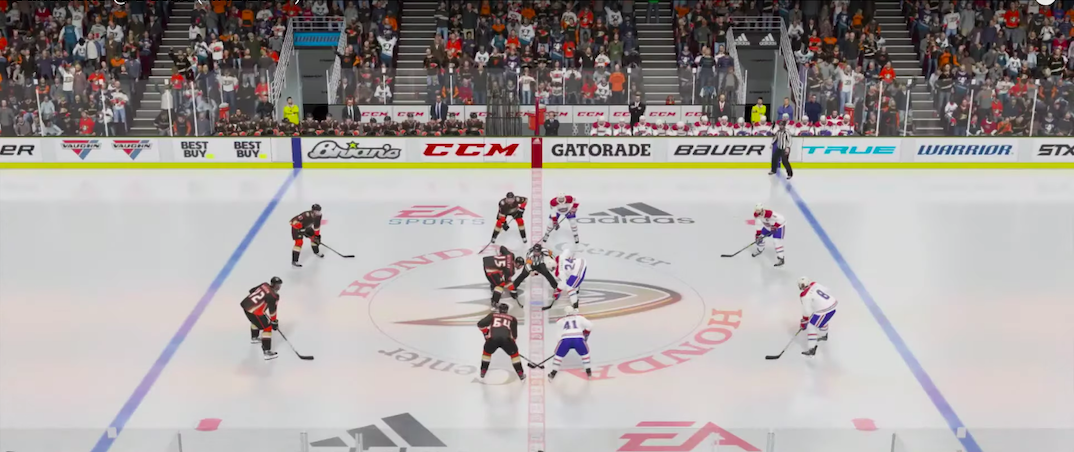 The Canadiens and Ducks played a socially distant hockey game this weekend
