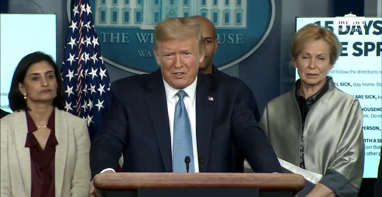 Trump announces new US guidelines to impede spread of coronavirus