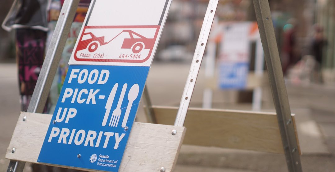 Seattle converting empty parking spaces into food pick-up zones