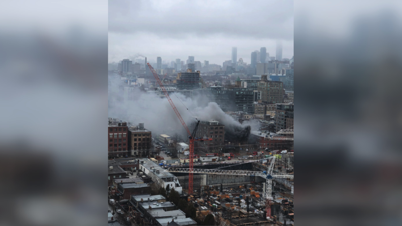 """""""Small explosion"""" reported following 2-alarm fire downtown Toronto"""