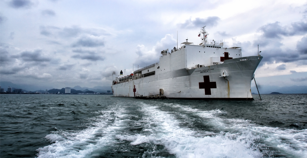 Trump sending USNS Mercy as medical relief to beleaguered west coast
