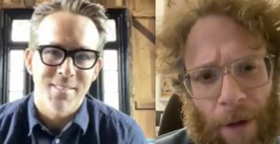 Ryan Reynolds and Seth Rogen want you to practice physical distancing (VIDEOS)