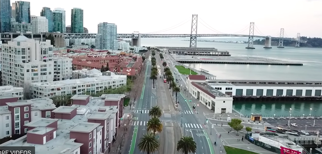 Drone footage shows San Francisco streets eerily deserted (VIDEO)