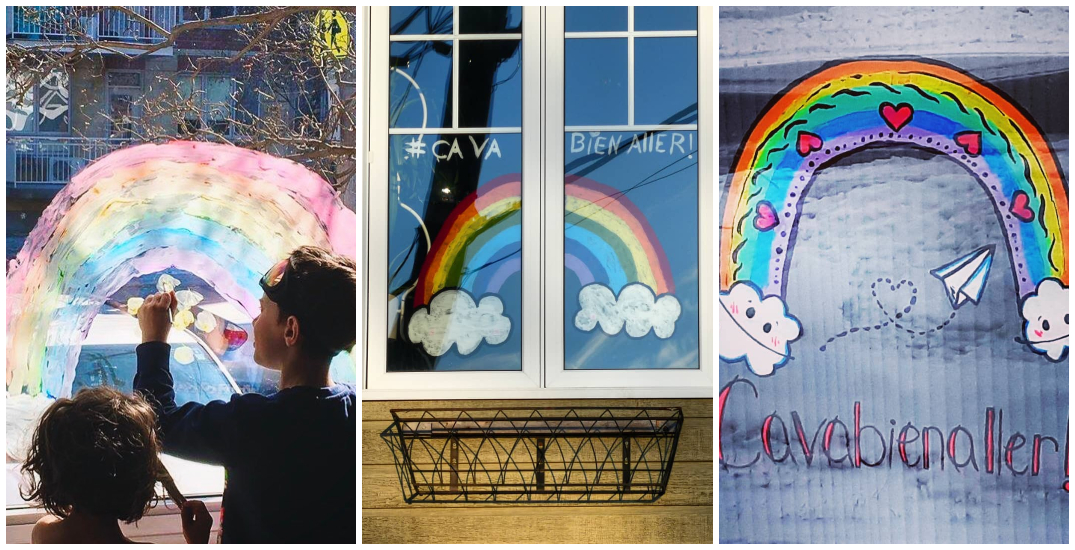 Rainbows of hope are appearing across Quebec (PHOTOS)