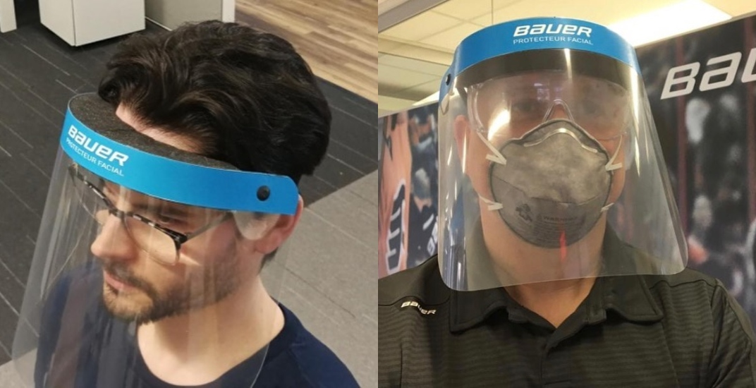Bauer Hockey now making face shields for medical professionals