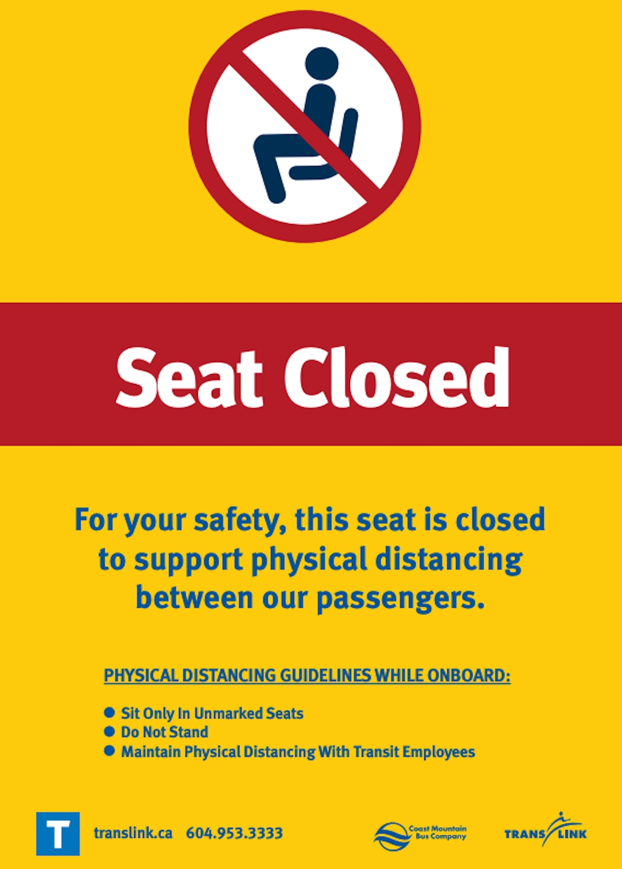 translink covid-19 bus seat closure
