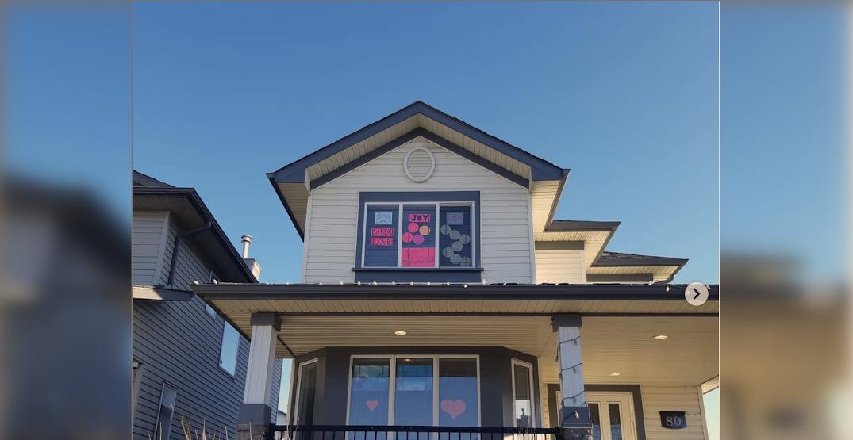 Calgary window decorations spreading joy throughout neighbourhood