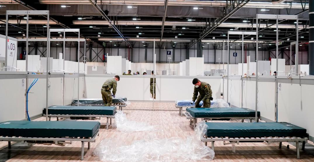 Convention centres in NYC, London, and Madrid turned into hospitals (PHOTOS)