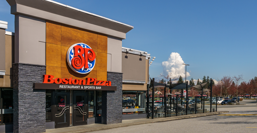 Boston Pizza is temporarily laying off nearly half of its corporate staff