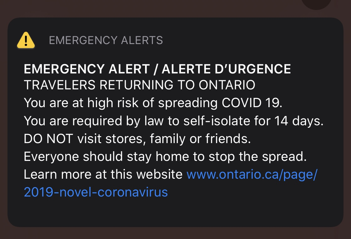 Ontario emergency alert will be issued across the province this afternoon