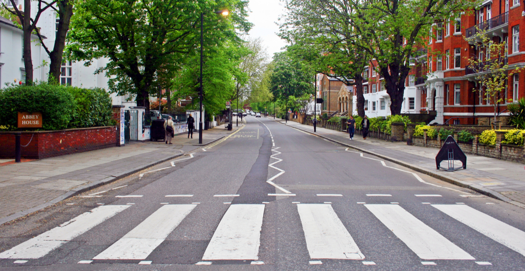 London's famous Abbey Road repainted during coronavirus lockdown