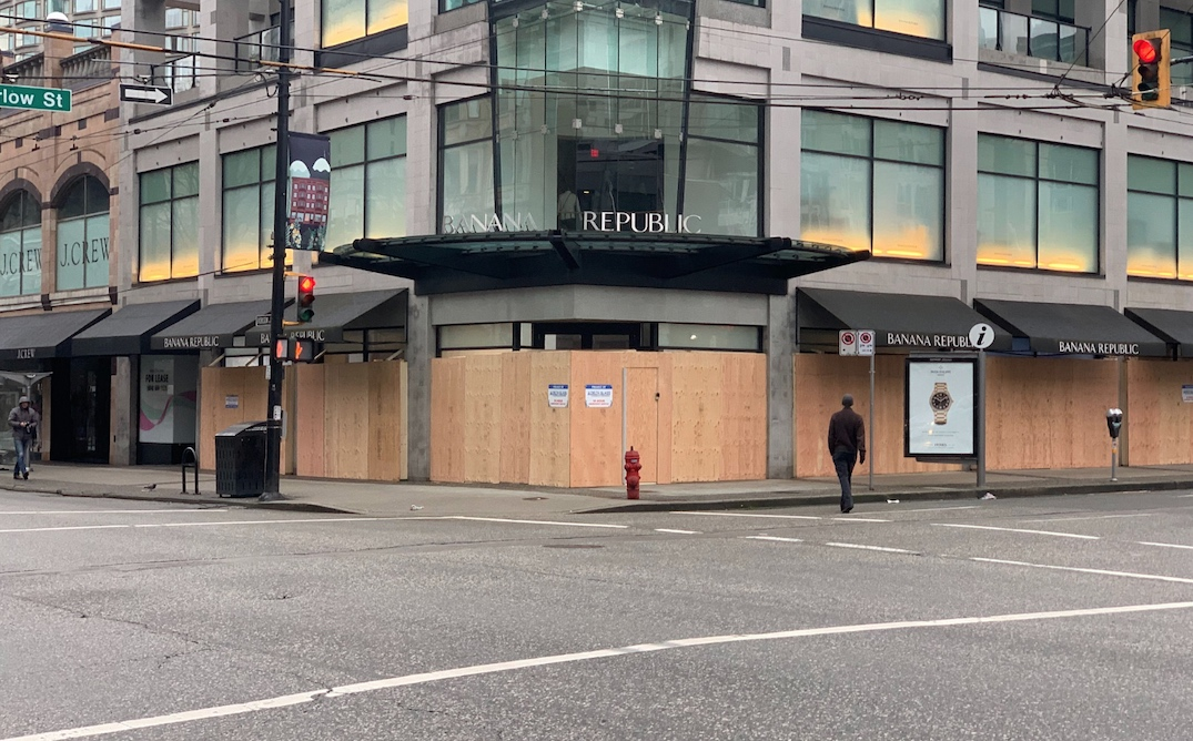 vancouver shops boarded up march 2020 9