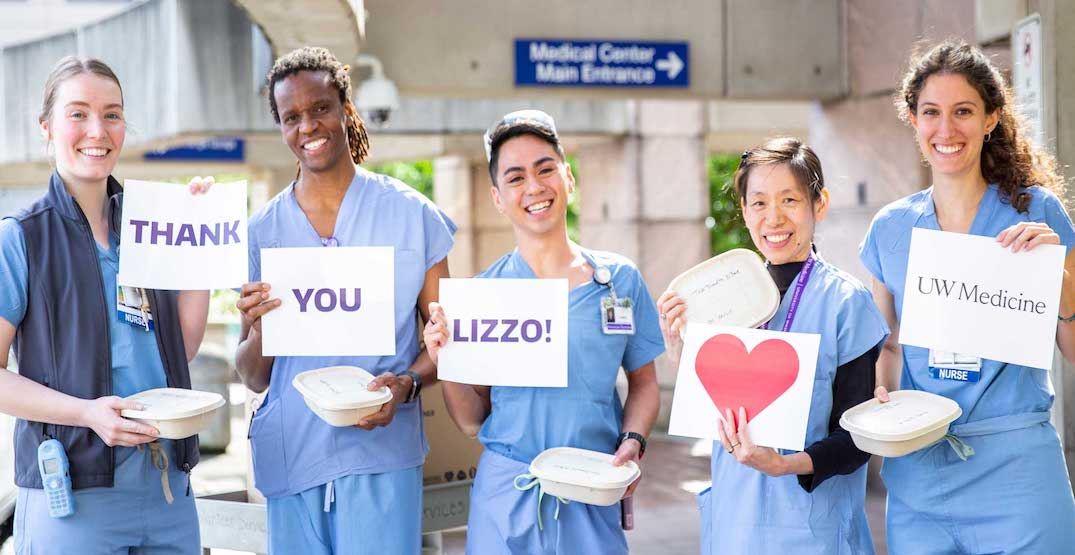Lizzo sent meals to the University of Washington Medical Center (VIDEO)