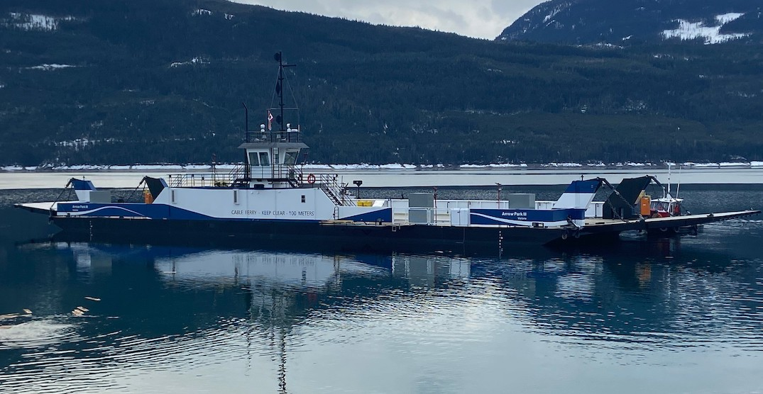 BC government launches new electric cable ferry into service
