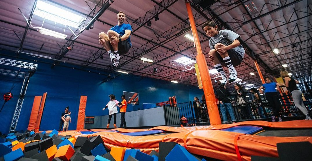 An indoor trampoline park is offering virtual birthday parties for kids