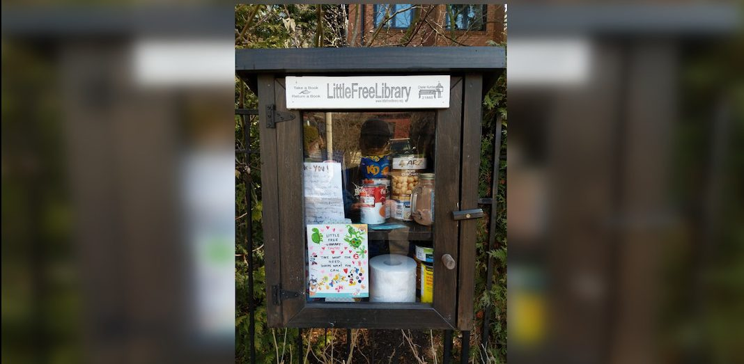 Little Free Library in Toronto transformed into Little Free Pantry