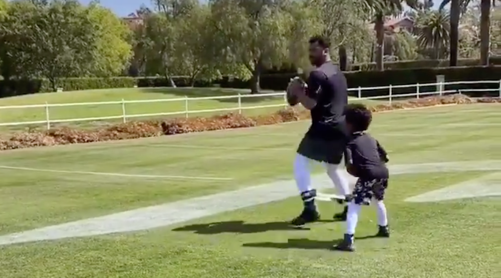 Seahawks QB Russell Wilson with his son will brighten your day (VIDEOS)