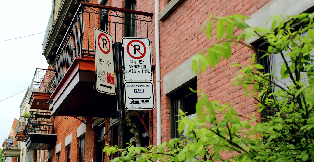 April's street parking restrictions in Montreal have been pushed back