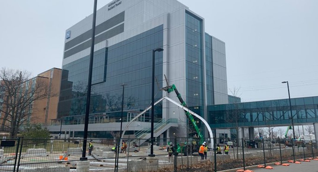 GTA hospital building temporary Pandemic Response Unit