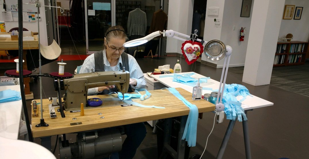 Costume shop staff at the Seattle Opera are making masks for healthcare workers