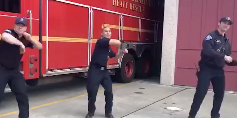 Watch the Seattle Fire Department dance in the #flattenthecurvechallenge (VIDEO)