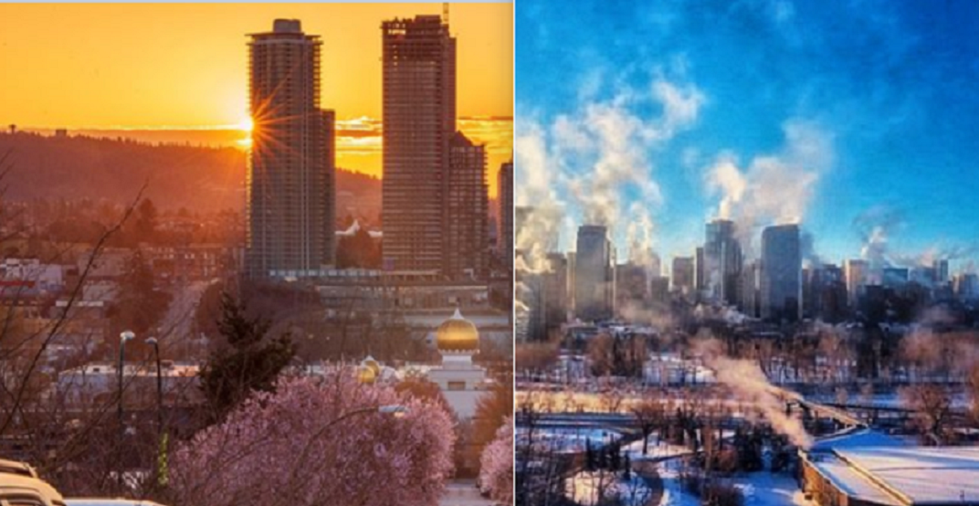 Vancouver and Calgary are seeing entirely different seasons (PHOTOS)