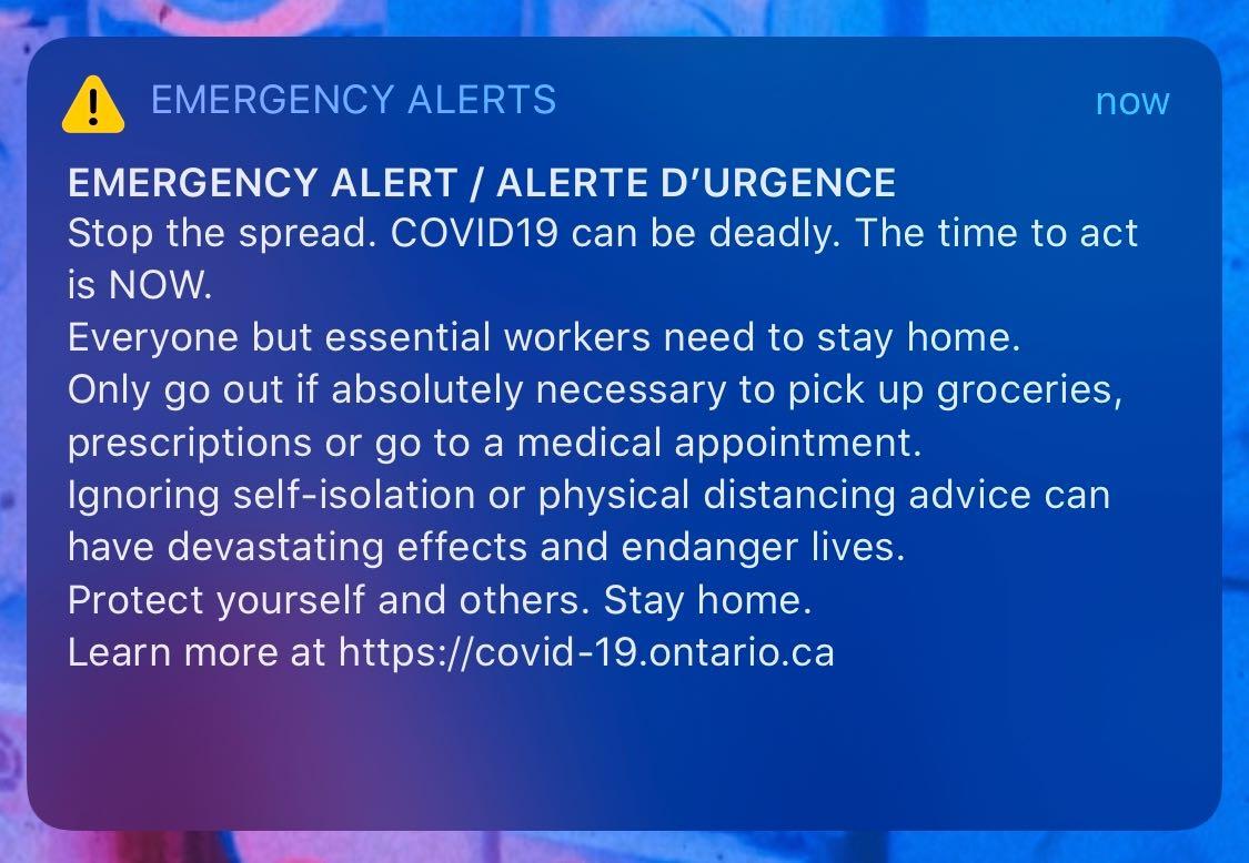 coronavirus emergency alert