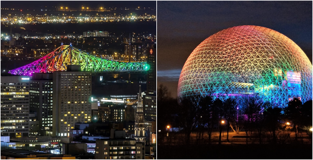 More Montreal landmarks lit up with rainbow colours this weekend (PHOTOS)