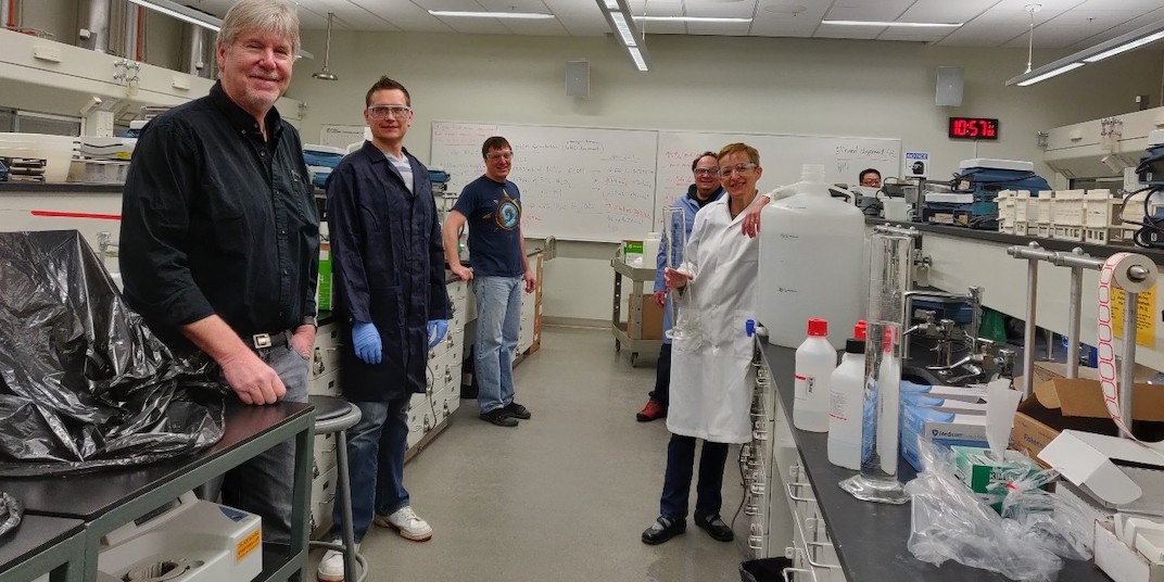 U of A chemistry department produces hundreds of litres of hand sanitizer