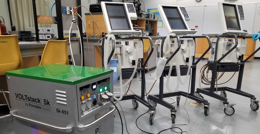 Vancouver film industry supplier offering battery power for hospital equipment