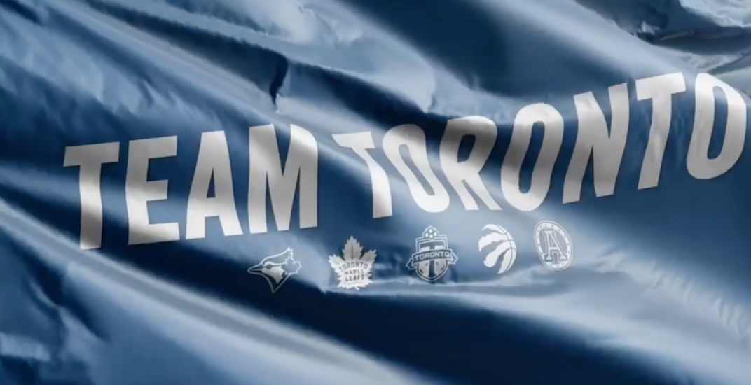 "Toronto pro sports teams come together for ""stay home"" hype video"