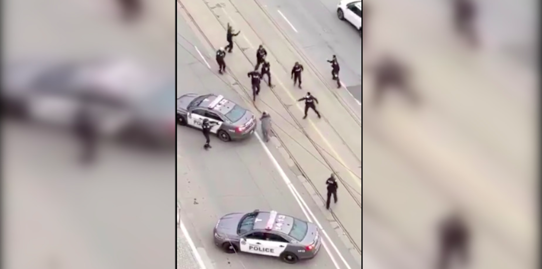 """SIU investigating after police vehicle allegedly """"struck"""" knife wielding suspect (VIDEO)"""