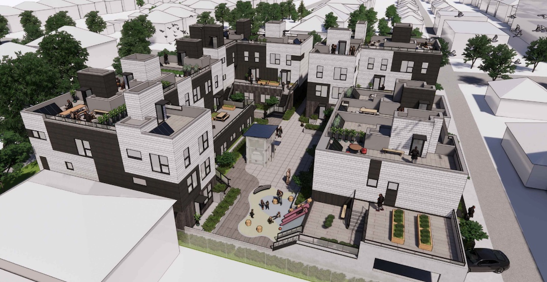 27 townhouses with lock-off units proposed near SkyTrain's King Edward Station