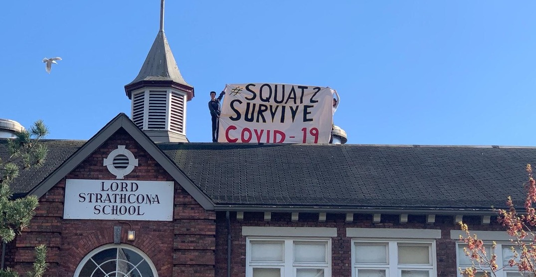 Squatting protesters arrested after occupying Strathcona school